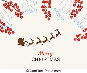 Santa Claus Christmas frame