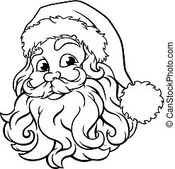 Christmas Santa Claus illustration in vintage woodcut style