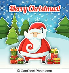 Santa Claus Christmas Postcard