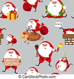 Santa Claus, Christmas set, pattern