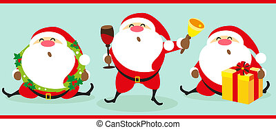 Santa Claus, Christmas set