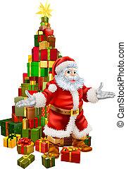 Santa Claus Christmas Tree Gifts