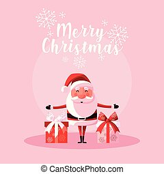 santa claus christmas with gift boxes