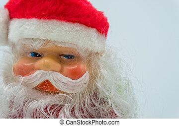 Santa Claus close-up on white background