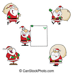 Santa Claus Collection  - Santa Claus -Vector Collection