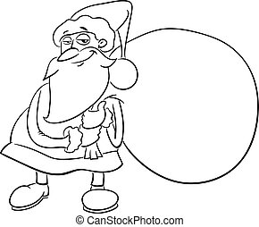 santa claus coloring book