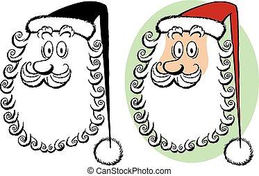 Santa Claus Curly Beard