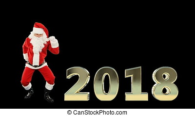 Santa Claus Dancing, 2018 text