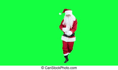 Santa Claus dancing chroma key
