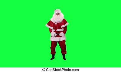 Santa Claus dancing chroma key
