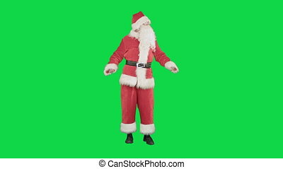 Santa Claus Dancing on a Green Screen Chrome Key