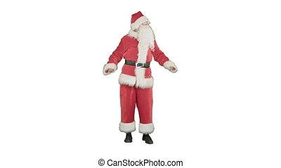 Santa Claus Dancing on white background