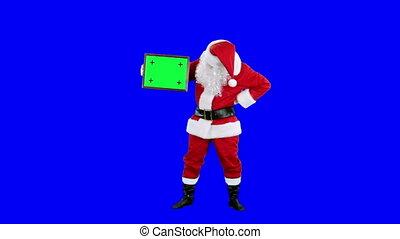 Santa Claus demonstrates frame
