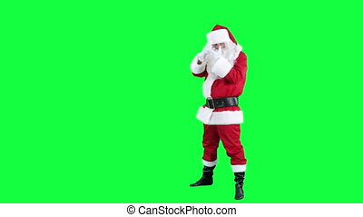 Santa Claus depicts photographer