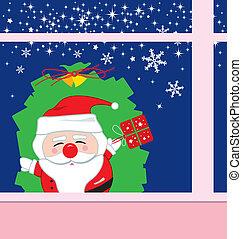 Santa claus design for christmas