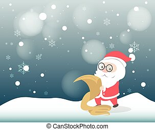 Santa Claus double checking his list.
