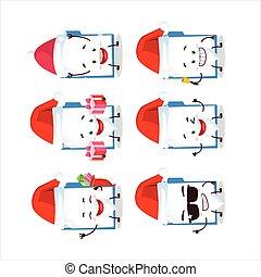Santa Claus emoticons with blue manila folder cartoon ...