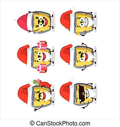 Santa Claus emoticons with dangerous potion cartoon character
