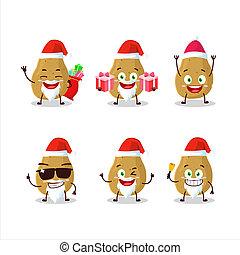 Santa Claus emoticons with potato cartoon character