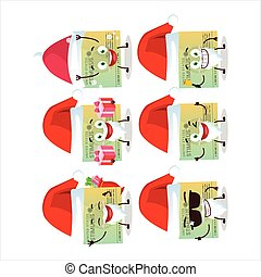 Santa Claus emoticons with stimulsus check cartoon character