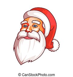 Santa claus emotions. Part of christmas set. Calm, peace, coolness, equanimity. Ready for print.