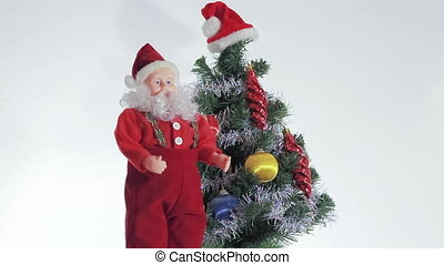 Santa Claus enjoys coming Christmas