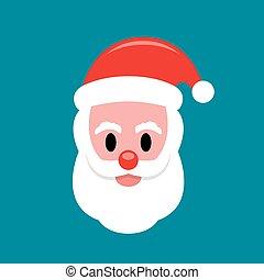 Santa Claus face flat icon
