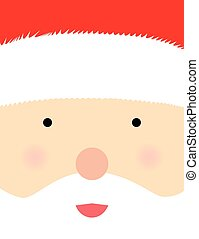 Santa Claus face poster