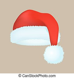 Santa claus fashion red hat modern elegance cap winter xmas...