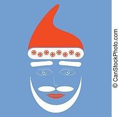 Santa Claus fashion silhouette