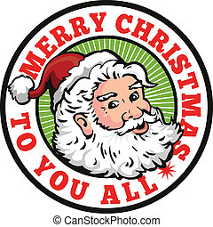 Santa Claus Father Christmas Retro - Retro style ...