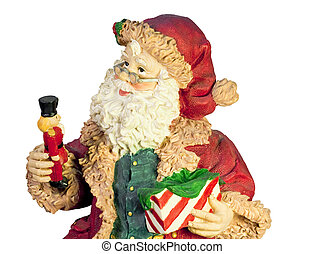 santa claus figurine isolated on white with clipping path at this size