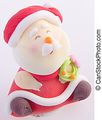 Santa Claus figurine on background - Santa Claus figurine on...