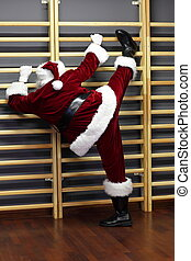 Santa claus - fitness training
