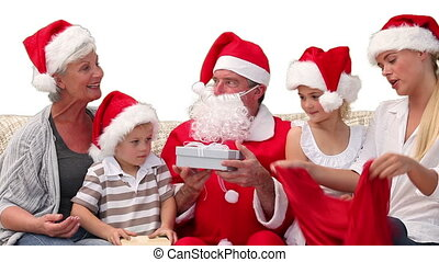 Santa Claus giving gifts