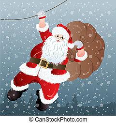 Santa Claus, greeting card design