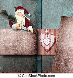Santa Claus greeting Christmas card