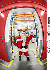 Santa Claus -greeting pose -unique - Santa Claus with red ...