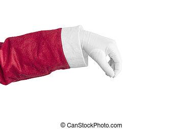 Santa Claus hand holding something
