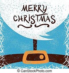 Santa Claus, Happy New Year - cartoon illustration.