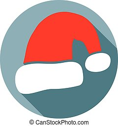 Santa claus hat flat icon
