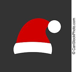 Santa claus hat icon.