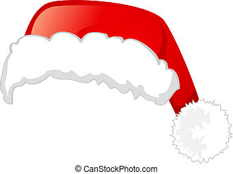 Santa Claus hat, Isolated On White Background