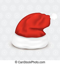 Santa Claus hat on christmas background