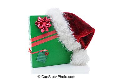 Santa Claus Hat on Present