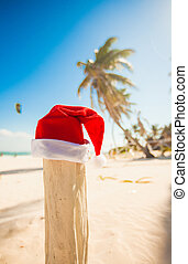 Santa Claus hat on vacation