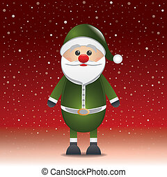 santa claus hat red snow background