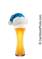 Santa Claus hat with beer