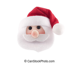 Santa Claus head isolated on white