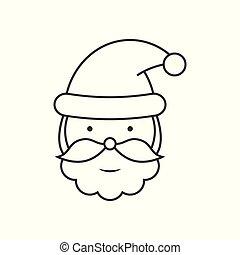 Santa Claus head line icon